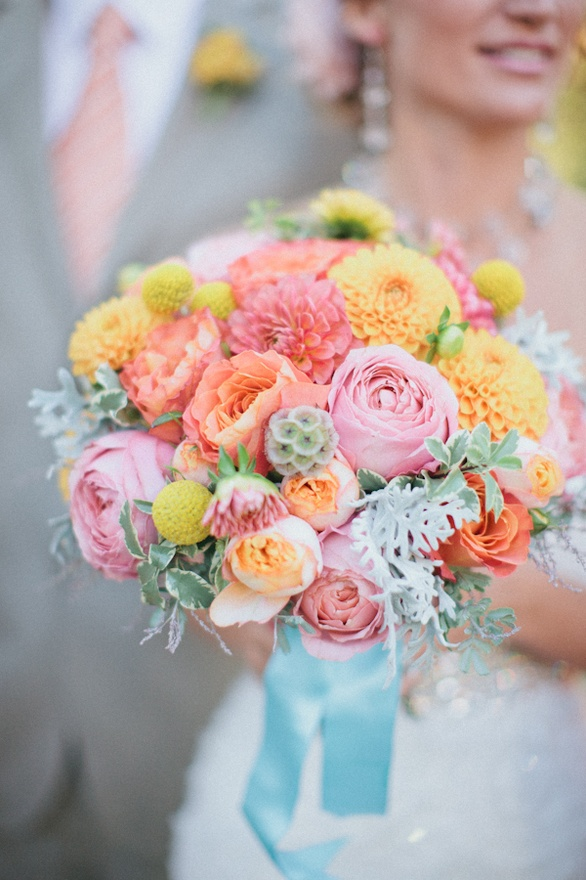 Bridal Bouquet With Color : Friday s fab five bridal bouquets pretty little planners