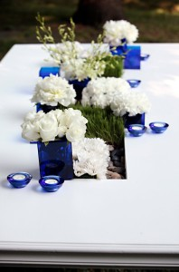 Cobalt Blue Centerpiece Accents